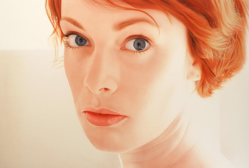 Portrait de Luh - © Hubert de Lartigue - mai 2008 - Acrylique sur toile / 130 x 89 cm (acrylics on canvas / 51.18 x 35.03 inches)