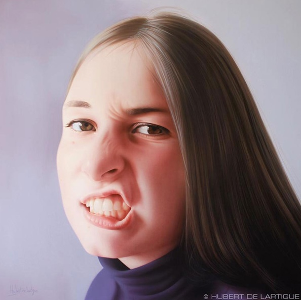 Meor - © Hubert de Lartigue - mai 2007 - Acrylique sur toile / 60 x 60 cm (acrylics on canvas / 23.62 x 23.62 inches)