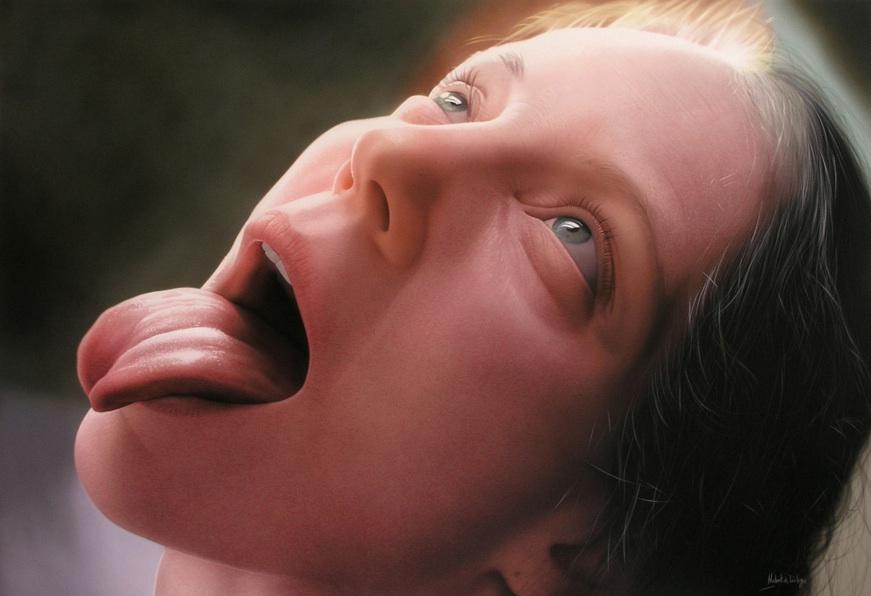 La Nuit - © Hubert de Lartigue - septembre 2005 - Acrylique sur toile / 120 x 60 cm (acrylics on canvas / 47.24 x 23.62 inches)