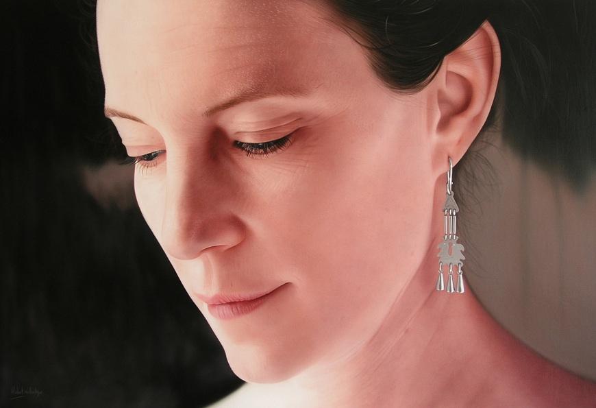 Le Jour - © Hubert de Lartigue - juin 2005 - Acrylique sur toile / 120 x 60 cm (acrylics on canvas / 47.24 x 23.62 inches)