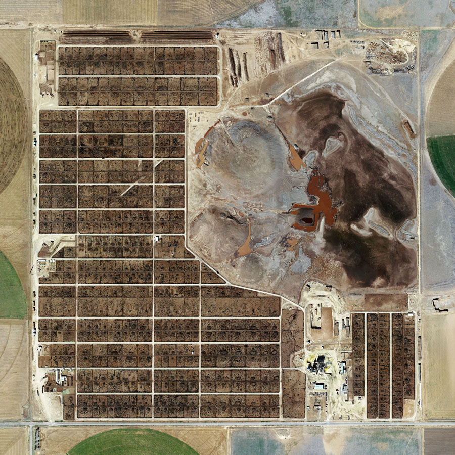 Randall County Feedyard, Amarillo, Texas (2013) Archival pigment print,102x102cm