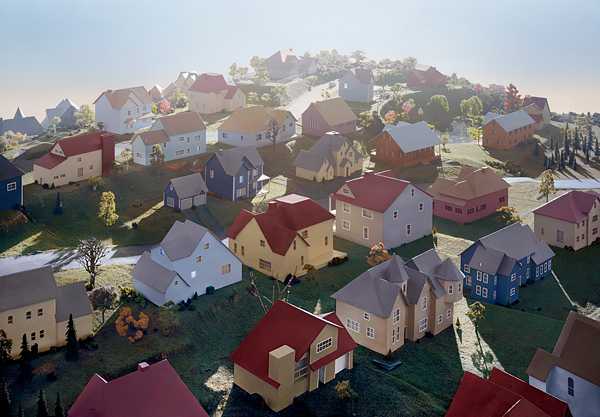 Landscape with Houses, (Dutchess County, NY) #1 , 2009, digital chromogenic print, size variable