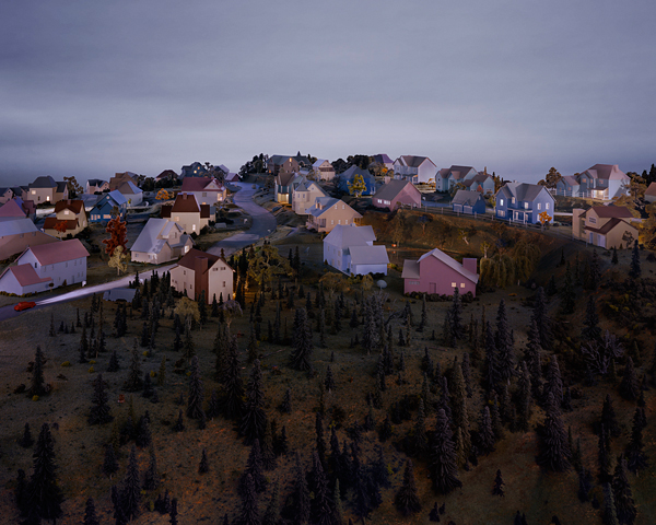 Landscape with Houses, (Dutchess County, NY) #3 , 2009, digital chromogenic print, size variable