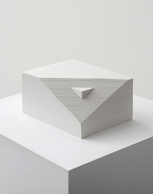 Form in white (Double prism), 2012 Paper 8 x 16.5 x 12.5 cm