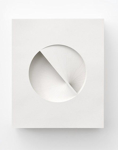 Form in white (Rotation IV), 2012 Paper 24 x 20 x 6 cm