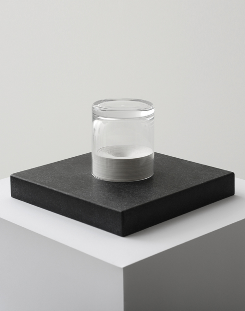 Head I, 2012  Paper, glass and granite  12 x 20 x 20 cm