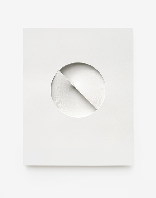 Comparative form in white  (Rotation, CW), 2013  Paper  26 x 32.5 x 3 cm