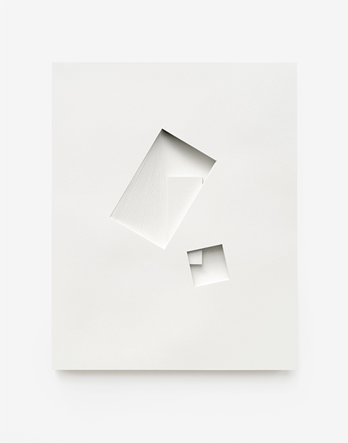 Comparative form in white  (Shared prism, CW), 2013  Paper  26 x 32.5 x 3 cm
