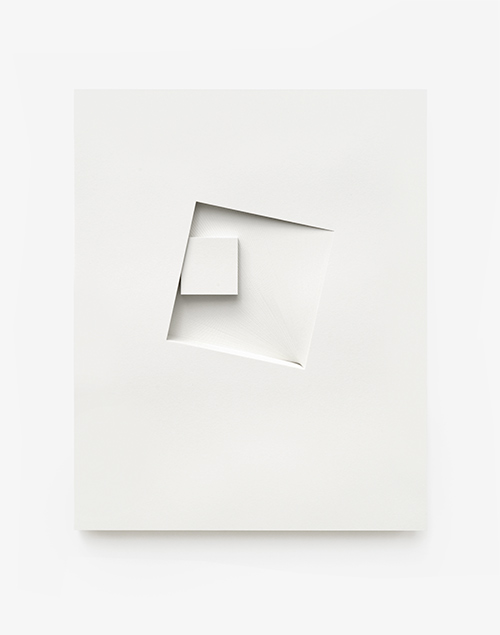 Comparative form in white (Squares, CW), 2013  Paper  26 x 32.5 x 3 cm