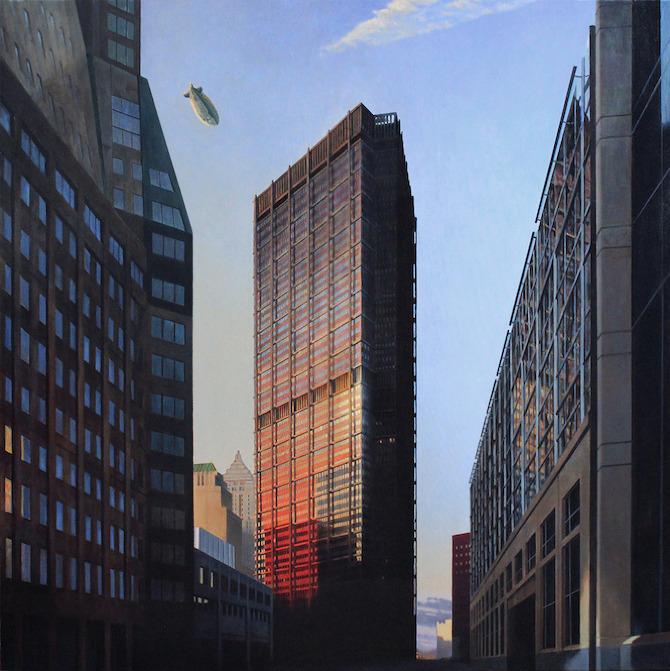 A Tall Building In An American City. oil. 54 x 54 in. 2012_II.jpg