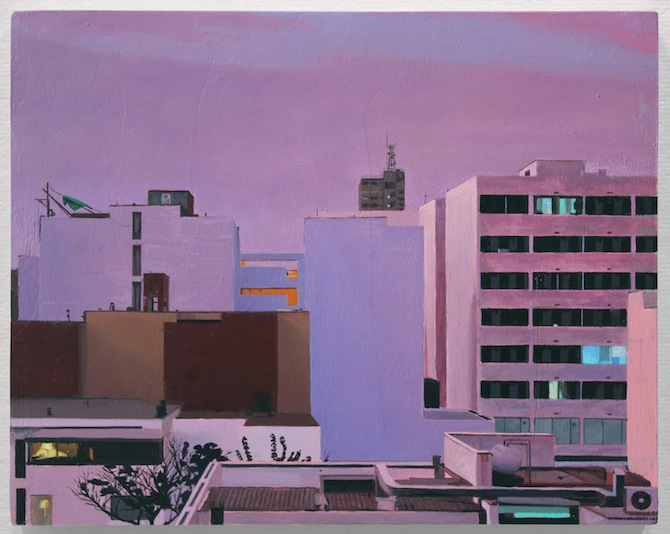 View From a Window- Evening. oil on panel. 10 x 8 in. 2013_6.jpg