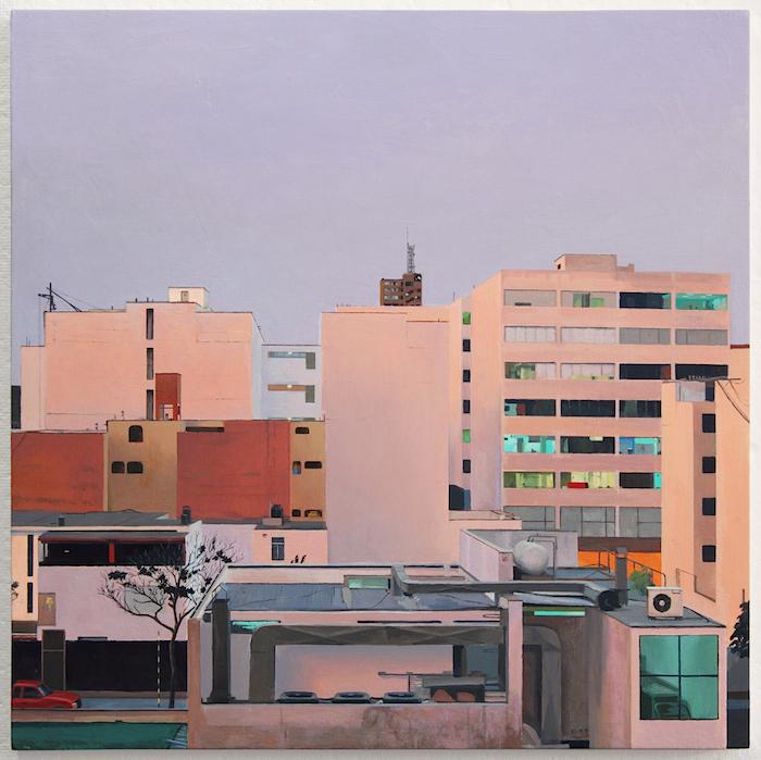 Our Neighborhood. oil on panel. 16 x 16 in. 2013