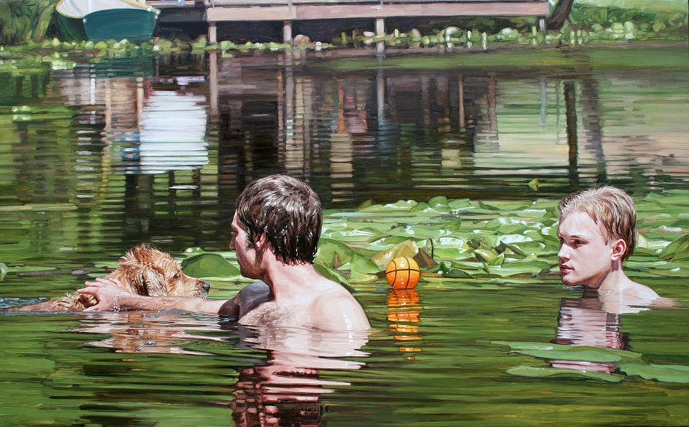"Reflecting Pond, 2010, oil on canvas, 48"" x 79"""