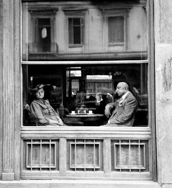 Atene, Caffè in piazza Omonia, 1957