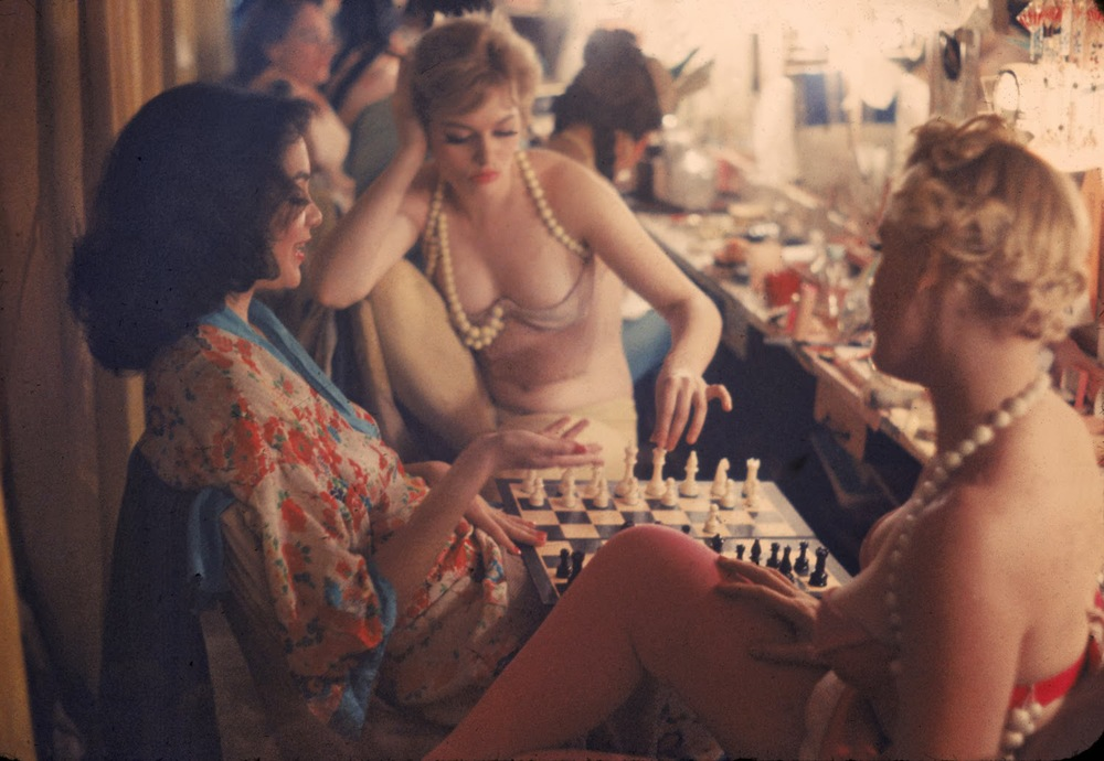 Showgirls at Work and at Play 1958