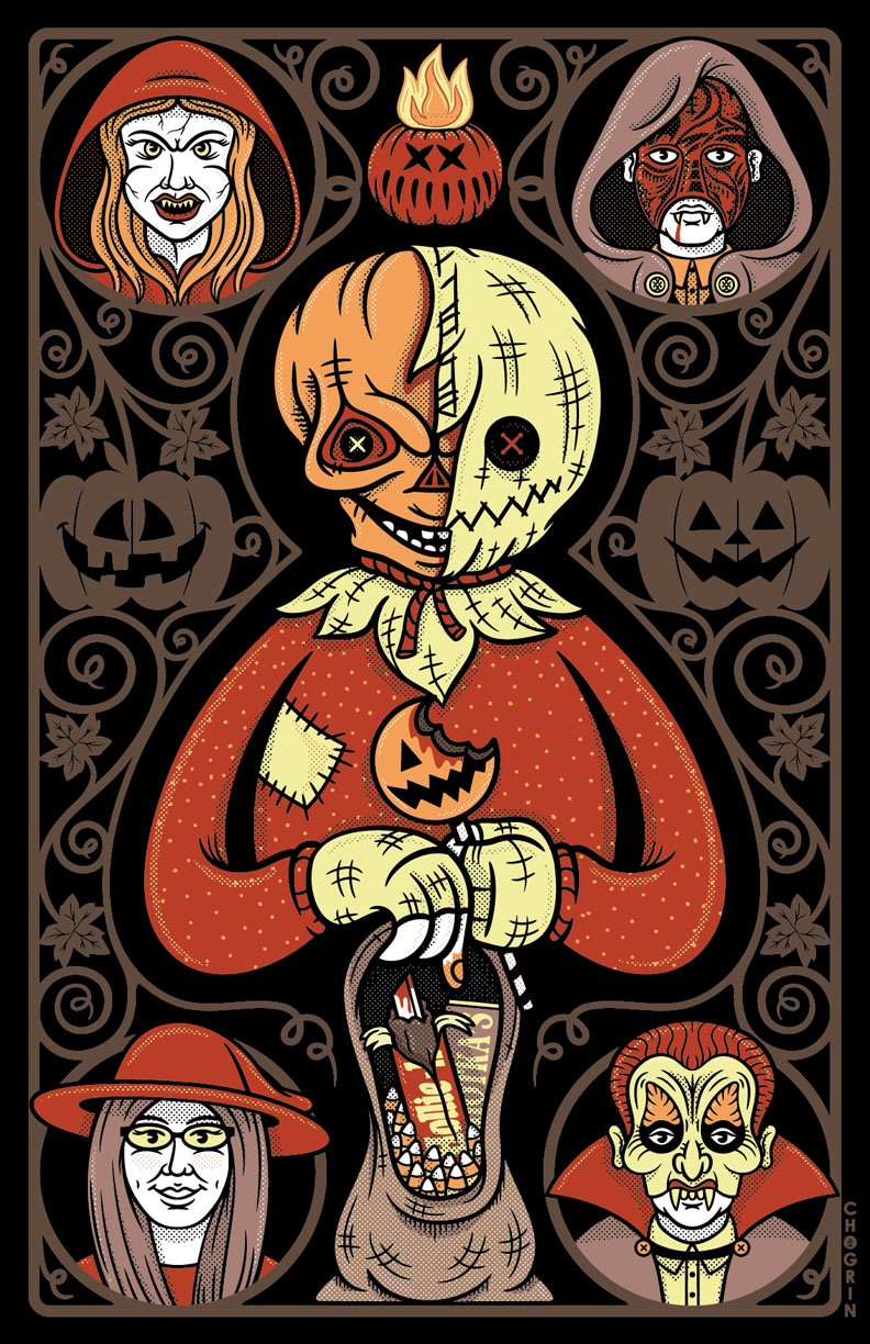 My Trick 'R Treat design is now available through  Fright-Rags ! Get yours here:      https://www.fright-rags.com/collections/trick-r-treat