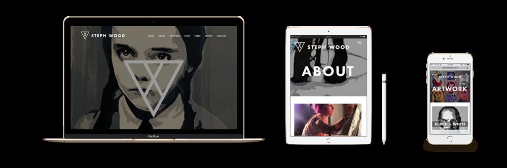 Steph Wood Responsive Website Design
