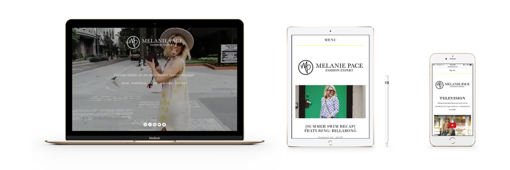 RESPONSIVE WEBSITE DESIGN FOR MELANIE PACE