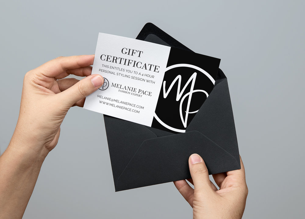 Melanie Pace Styling Gift Certificates