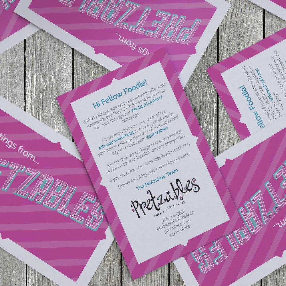 Pretzables #TwistsThatTravel Campaign Mailer