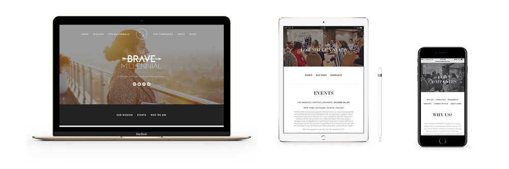 The Brave Millennial responsive website design