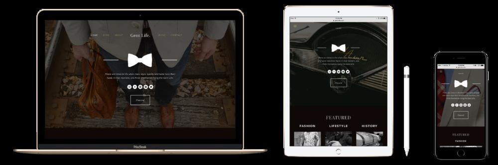 Gent Life Website & Blog Design