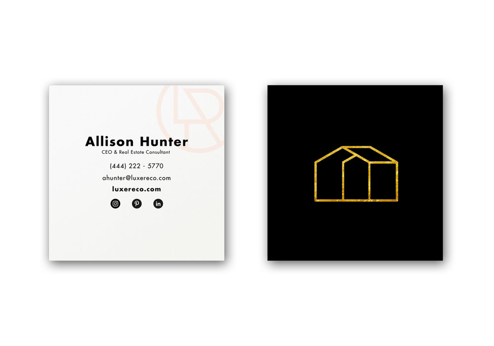 Luxe Real Estate Co. Business Cards