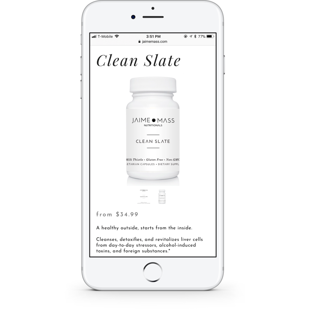 Jaime Mass Nutritionals Product Page Mobile