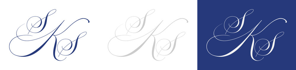 wedding monogram design