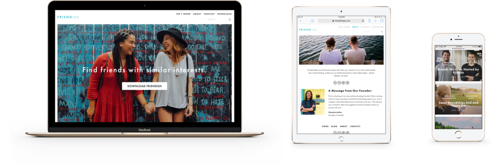 Friendish Responsive Website Design via squarespace