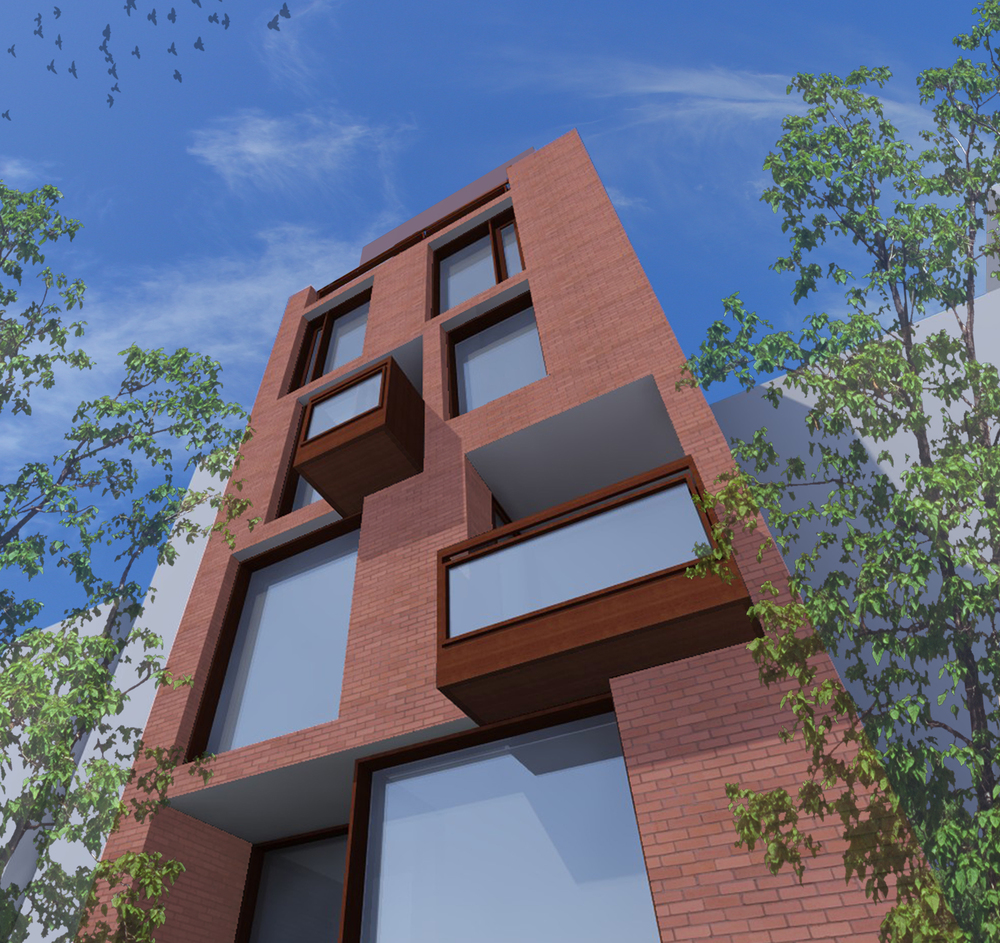 Rendering of Rear Facade