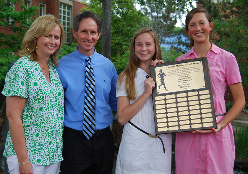 Emily Cullum is the recipient of the 1st Christian Moseley Bryant Award at Girl's Preparatory School