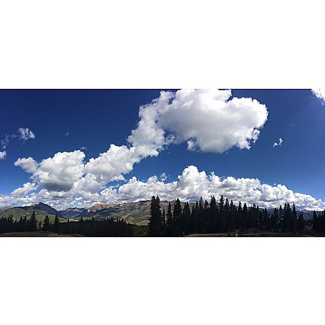 remembering that time @drew_berg1 and i got to do whatever for a weekend. -- #seetheworldaroundyou #whereveryougothereyouare #crestedbutte #colorado #explore #clouds #landscapes #mountains
