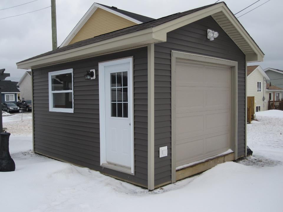 Sheds and garages octagon group inc for 10x14 garage door