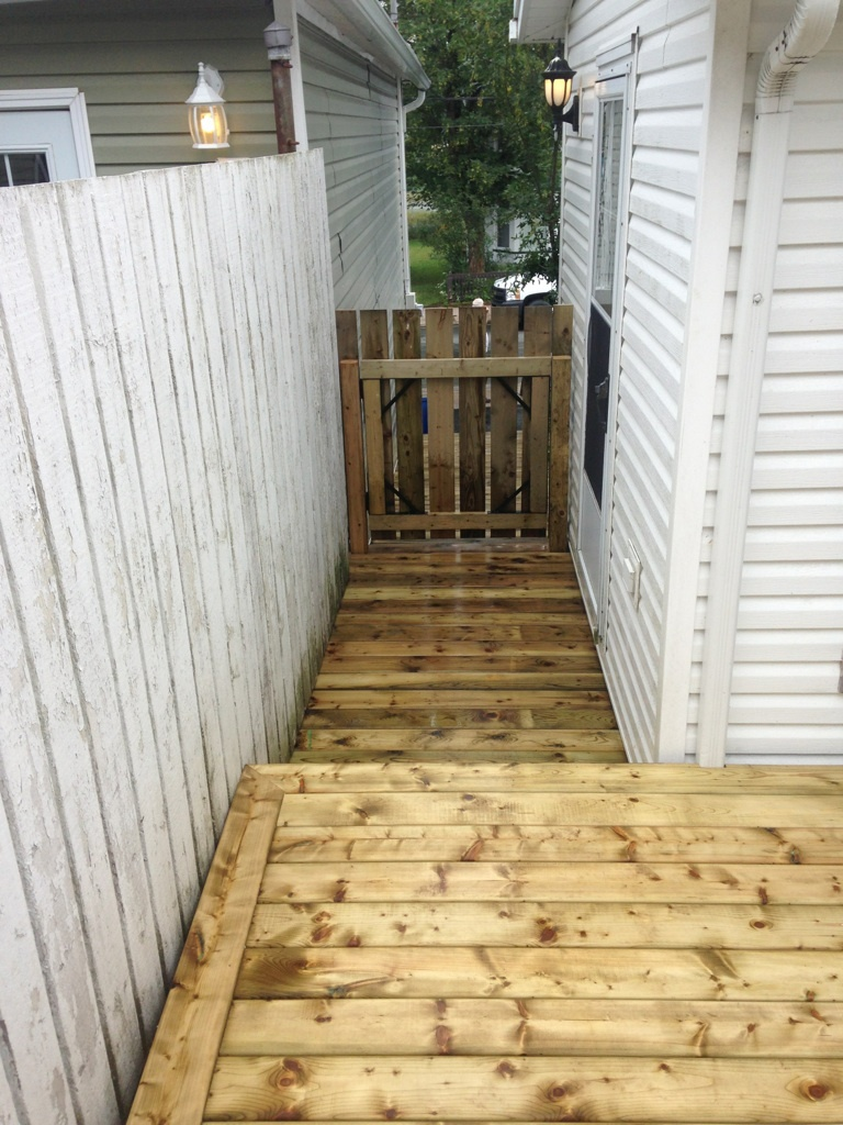 Replaced an existing wooden walkway