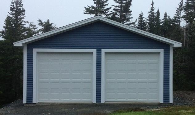 26' x 32' Garage with two 10'x9' overhead doors