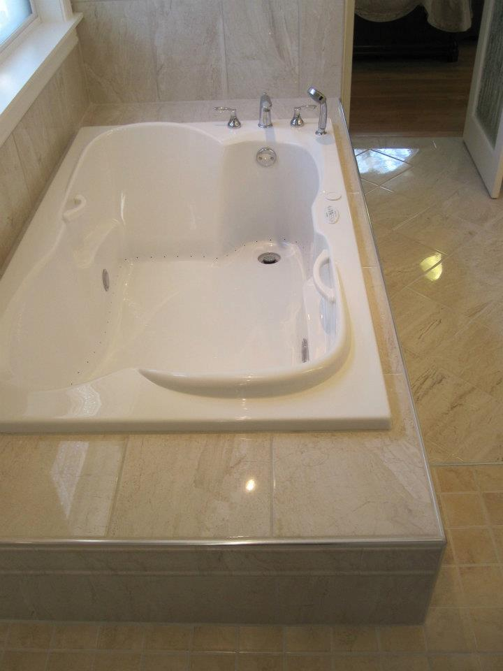 Tub and surround
