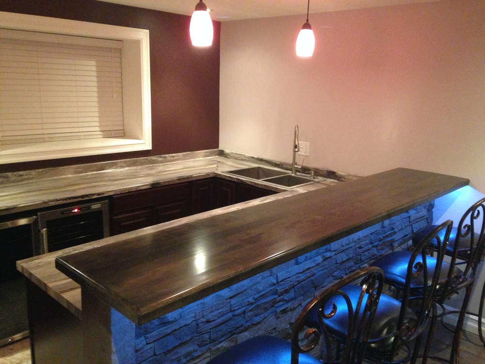 Custom bar top