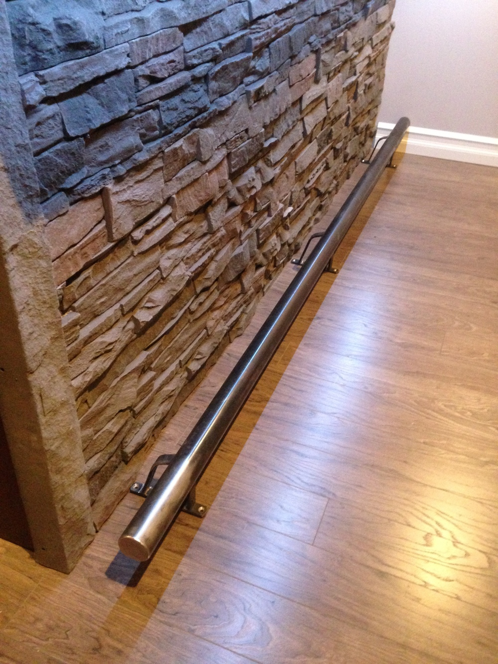 Stone and custom rail