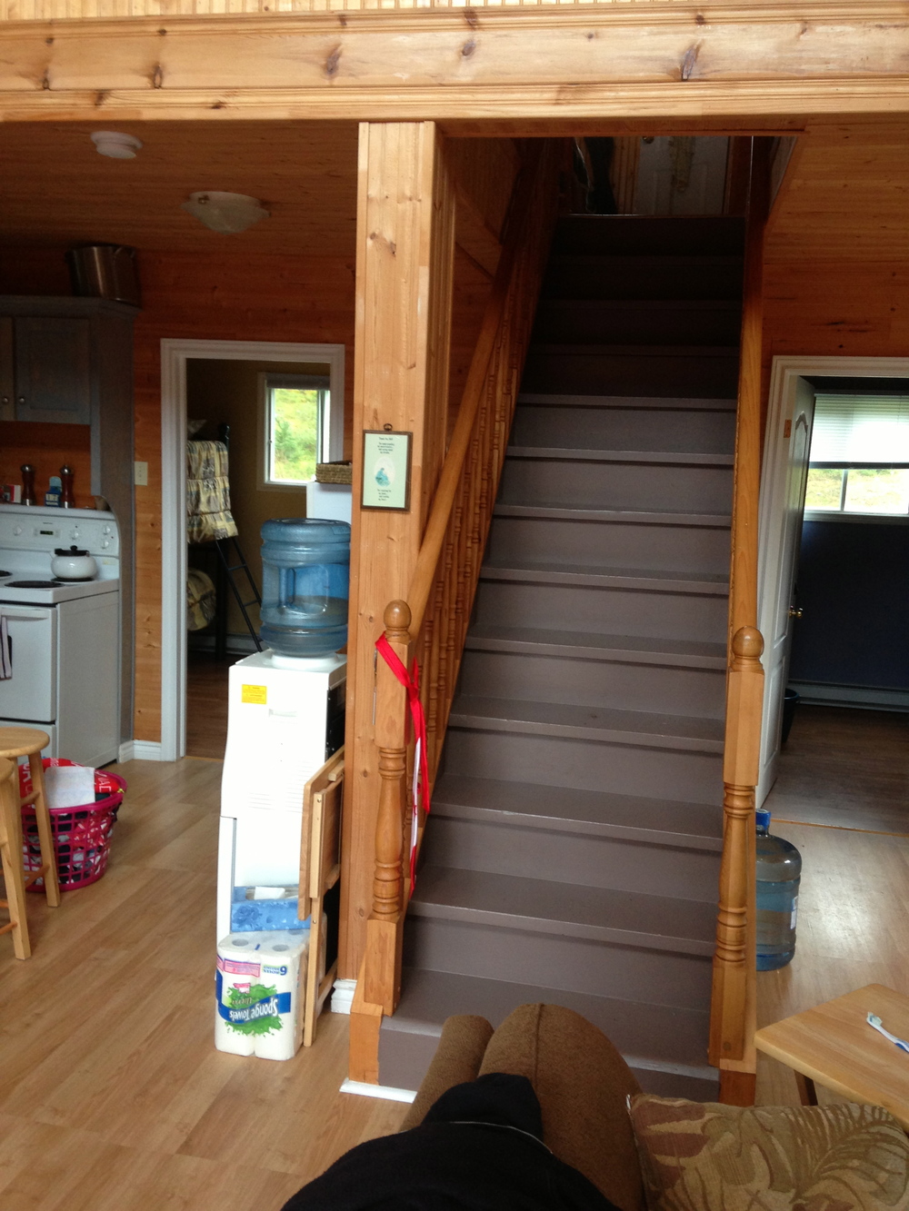 Stairs to loft - before