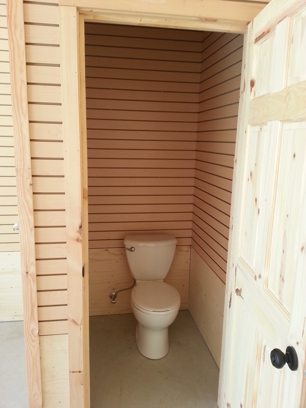 Toilet installed in water closet