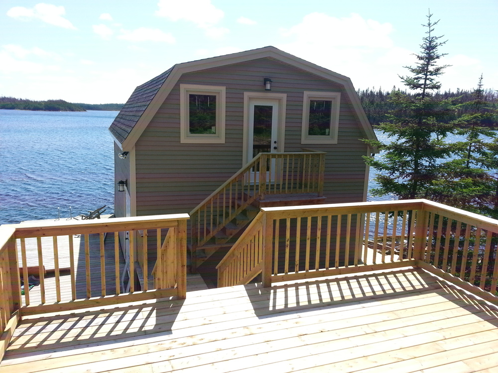 New large deck and walkway.  Updated windows and doors.