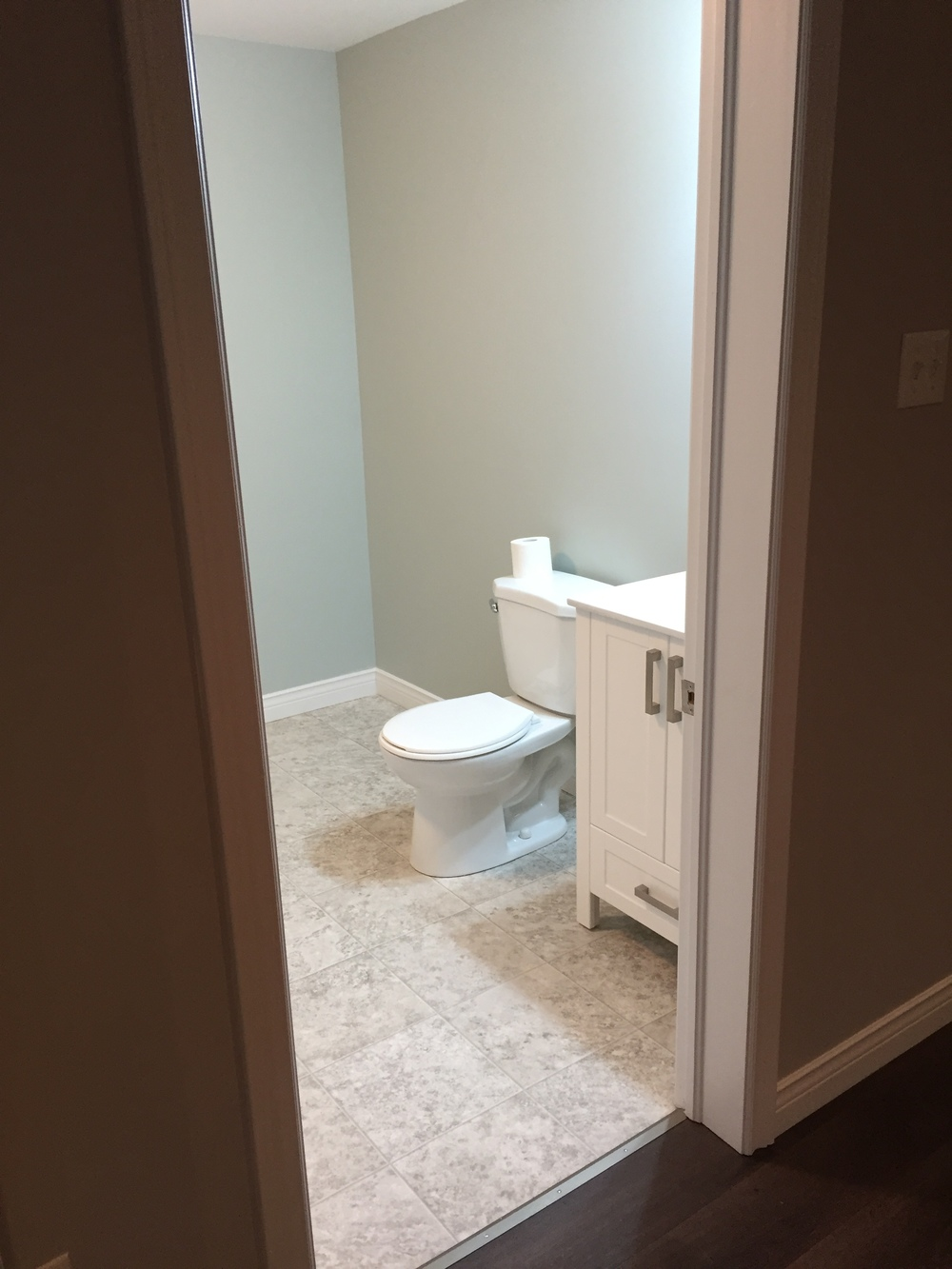 Half bath off rec room.
