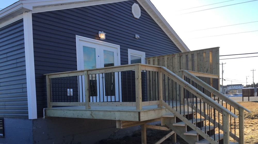 New rear deck and double garden door with increased ventilation in gable