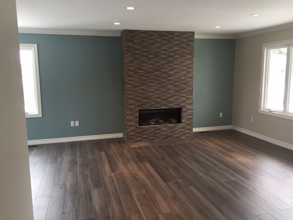 Completely renovated living area with plenty of work leveling and supporting structure.