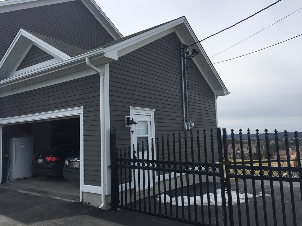 Home was frequently damaged by wind prior to installing Cape Cod siding and trims.