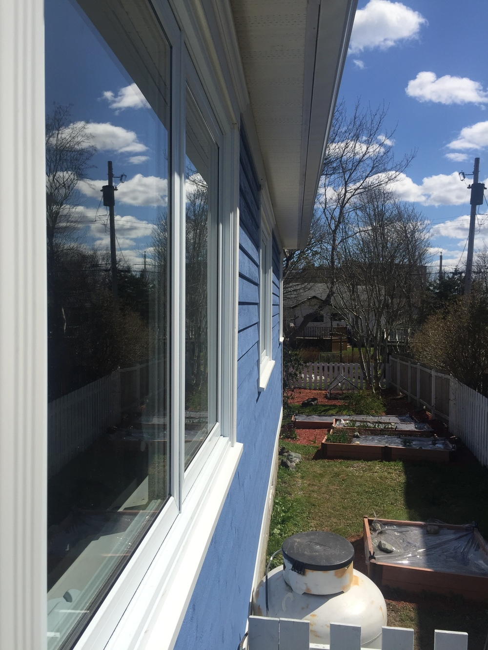 New windows and siding will increase efficiency of home.