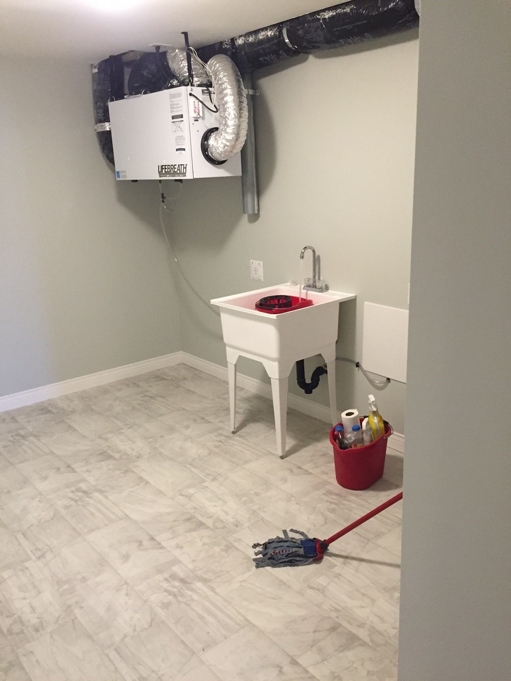 Brand new area for washer and dryer and a new HRV to ensure the home is running efficiently.
