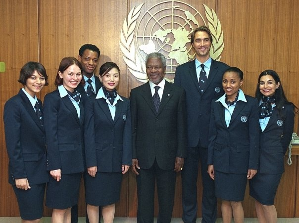 Posing with our other colleague: The Secretary General Mr. Annan!