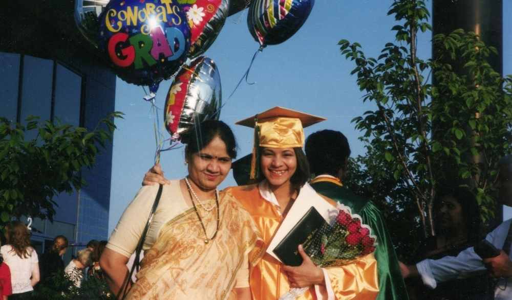 High School Graduation in New Jersey with Mom